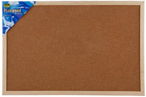 Idena 568022 - Bacheca da parete in sughero, puntine incluse, circa 40 x 60 cm