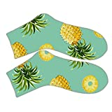 In Fashion Cotton Fabric For Short Socks With Pineapple Women