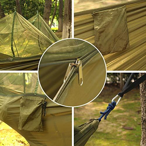 DHIDWWBBH Camping extérieur portatif moustiquaire en Nylon hamac Suspendu lit balançoire Dormir, Orange 28