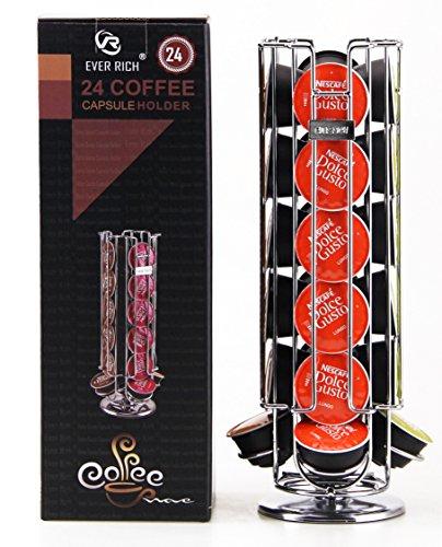 Portacapsule da caffè; girevole, per 24/32 capsule, compatibile con capsule Dolce Gusto (24 DOLCE...