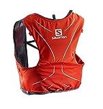 Salomon ADV Skin 5 Set Mochila para Carrera de montaña, Capacidad 5L, SoftFlask incluida, Práctica y Ligera, Unisex Adulto, Roja (Fiery Red)/Gris (Graphite), M/L