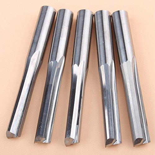 EU_HOZLY - Punte dritte a doppia scanalatura per fresatrici verticali CNC per legno, 6x 25mm,...