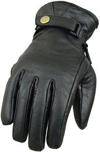 Classic echtes Leder Motorrad Handschuhe 14