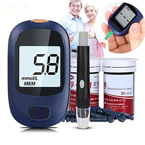 ZZYYZZ Glucometro, Kit per Il monitoraggio del diabete Test per glicemia con 50 Strisce per Monitor...