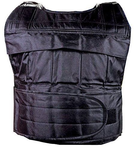 SAHNI SPORTS Weighted Vest | Heavy Duty Nylon Fabric, Weight Included, 10 Kg, Black