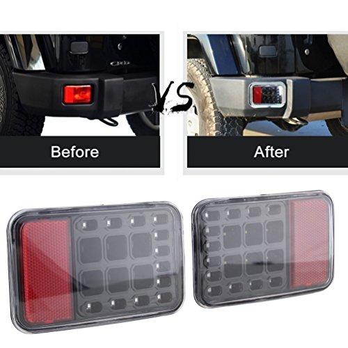 Sxma LED fanale posteriore freno posteriore paraurti posteriore Light Back up Reverse luci luce...