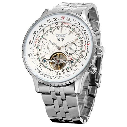 Forsining, orologio da uomo automatico a tourbillon completo di calendario, con cinturino; codice JAG034M4S1