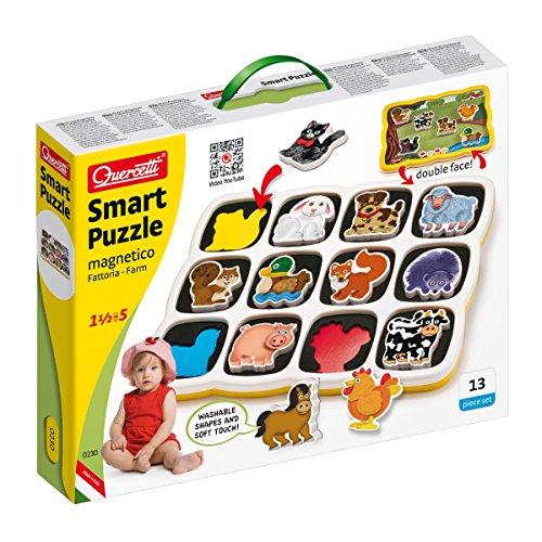 Quercetti 0230 Smart Puzzle Farm Prima Infanzia