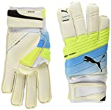 Puma - Guanti portiere Evopower Protect 1.3, Evopower Protect 1 3, White/Atomic Blue/Safety Yellow, Taille 11