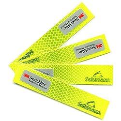 Salzmann 3M Diamond Grade Adhesivos Reflectantes y Impermeables | Adhesivos para Coches, Motocicletas, Bicicletas | Equipado con 3M Scotchlite