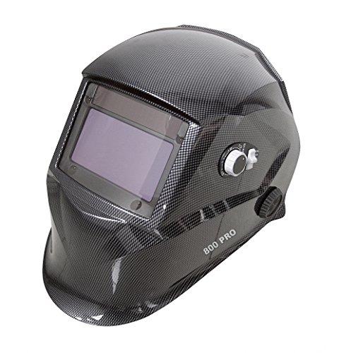 Proteco-Werkzeug® PRO 800 Automatik Schweißhelm XXL Sichtfeld inkl 10 Gläser Solar Schweisshelm Schweissmaske Schweißschild Automatikhelm