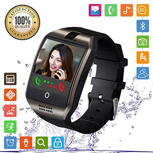 Smartwatch, FENHOO SN06 Smart Watch Phone con SIM Card Slot Camera Touch Screen Orologio Intelligente Cellulare per Android Samsung Huawei Xiaomi ios iphone 11 X 8 7 6 6s 5 Uomo Donna Bambini (Nero)