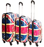 2408 Union Jack - Multicolor Set de 3 maletas...