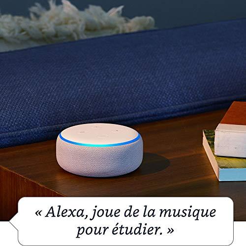 Nouvel Echo Dot (3ème génération), Tissu anthracite + Amazon Smart Plug (Prise connectée WiFi), Fonctionne avec Alexa 25