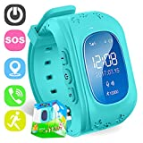Reloj para Niños,TURNMEON Reloj Infantil Pulsera Inteligente Localizador Compatible con Smartphones (Azul)