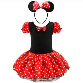 Vestidos de Baile de Ballet Ropa de Baile for niñas Mickey Mouse Round Light Piece Tutu Skirt Cosplay Dress ( Color…