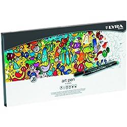 Lyra Hi-Quality Art Pen - Estuche metálico 50 rotuladores artísticos acuarelables de colores, efectos de luz y metálicos