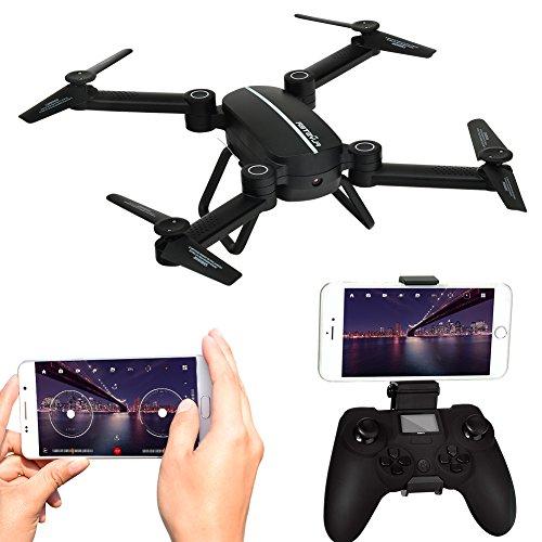 Kingtoys Sky cacciatore RC Drone con macchina fotografica WiFi 720P HD Live Video, 2.4GHz 4CH 6-Axis...