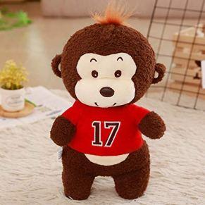 yfkjh Los Juguetes de Felpa Mono, la muñeca de Trapo Lindo muñeco Feo Bud, el Regalo de cumpleaños de la muñeca del Mono pequeño 40 cm Rojo
