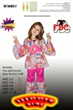 FDC 60S Sixties Hippie Hippy Pink Girls Fancy Dress Costume Child - Age5-6