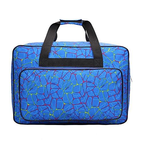 Bolsa para máquina de coser, bolsa de transporte universal de nailon, funda de almacenamiento acolchada universal con bolsillos y asas 18.1x12.2x9.4in azul