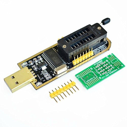 XCLUMA USB Programmer CH341A Series Burner Chip 24 EEPROM BIOS Writer 25 SPI Flash Board