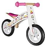 """BIKESTAR Bicicleta sin pedales madera para niños ★ 10 pulgadas ★ Color Blanco ★ A partir de 2-3 años ★ 10"""" Sport Edition 2018"""