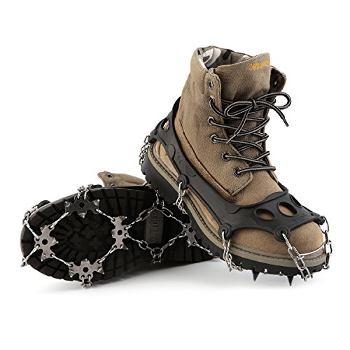 OUTAD 18 Teeth Stainless Steel Crampons 5
