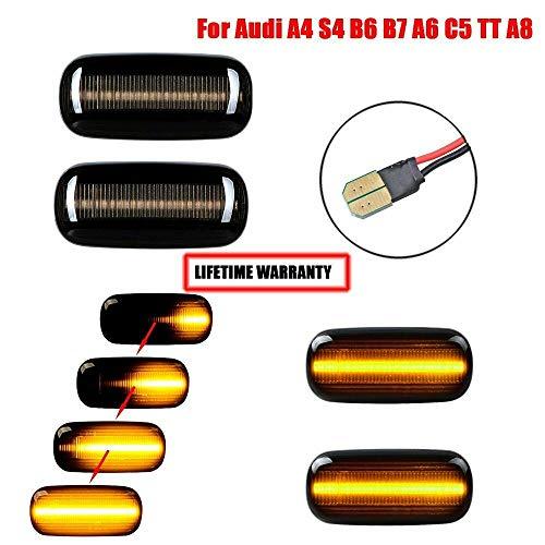 Guangu, 2 indicatori LED dinamici lampeggianti 18 SMD ambra lampeggiante sequenziale con...