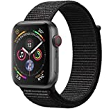 Apple Watch Series 4 (GPS + Cellular) cassa 44 mm in alluminio Grigio Siderale e Cinturino Sport Nero