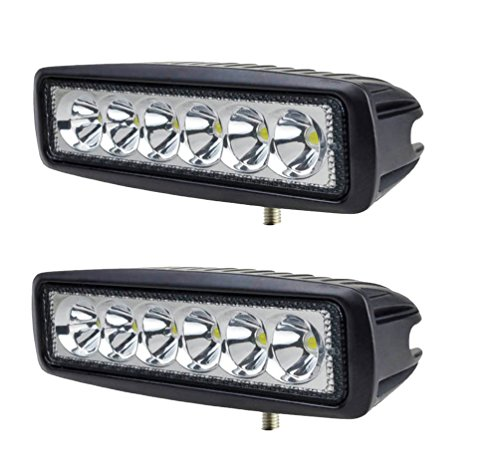 2 X 18W Led riflettori del LED FARO LAMPADA SUPPLEMENTARE PROFONDITA' PER AUTO FUORISTRADA 12V 6 LED...