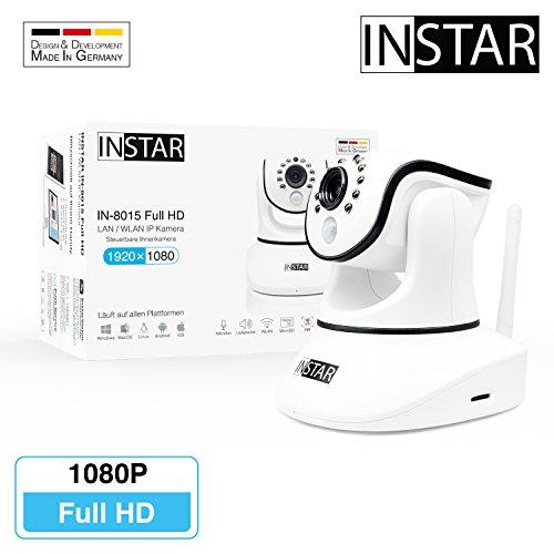 INSTAR IN-8015 Full HD weiss - WLAN Überwachungskamera - IP Kamera - IP Cam - Innenkamera - Pan Tilt - Alarm - PIR - Bewegungserkennung - Nachtsicht - Weitwinkel - LAN - WiFi - RTSP - ONVIF