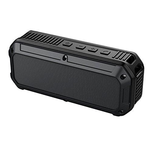 AUKEY Bluetooth Altoparlante V4.0 Protetto da Spruzzi di Acqua e Antipolvere per Uso Esterno, Riproduzione in Volume più Alto per iPhone, iPad, Samsung, HTC ecc. (SK-M8 IP64)(Nero)