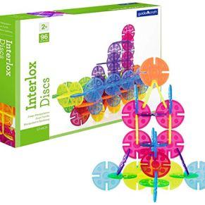 Guidecraft- Interlox Discs 96 Piezas, Multicolor (1)