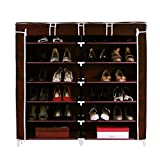 Gadgets Appliances Double Cabinet Shoe Rack Shoe Organizer Shoe Cabinet Large, Covered & Spacious (Size : Length 118 X Width 30 X Height 120 cm) Brown