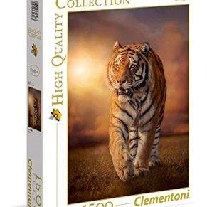 Clementoni-Tiger Puzzle 1500 Piezas Tigre, Color (31806.3)