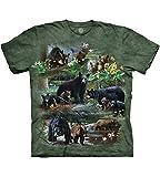 T-Shirt Bear Collage grün | 4XL
