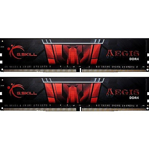 GSkill F4-3000C16D-16GISB Memoria RAM da 16 GB, DDR4, 3000 MHz, CL16, Nero