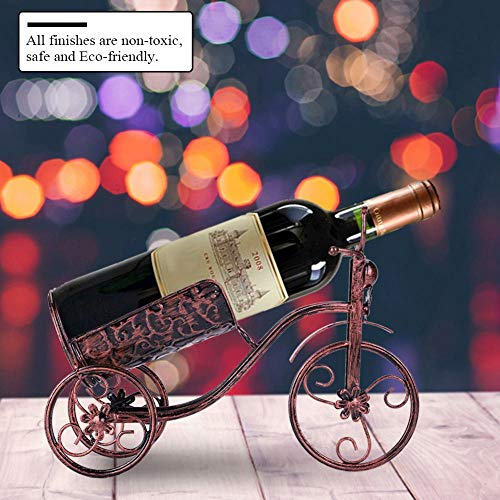 Porta bottiglia di vino vintage metal tricycle-shaped retro Red Wine rack Bottle Holder Storage...