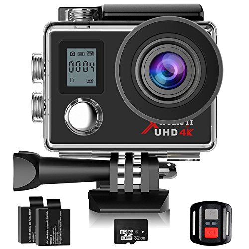 Campark 4K Action Camera Dual Screen WIFI Ultra HD 16MP Impermeabile Sport Cameras 170 °...
