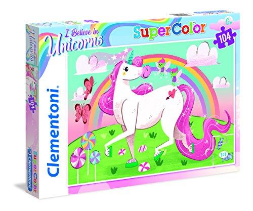 Clementoni-27109 Supercolor Puzzle Unicorno, Multicolore, 27109