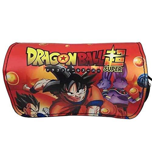 Dragon Ball Z Borsa A Matita Rettangolare Design A Doppio Strato Anime Goku Scuola Cosplay Studente...