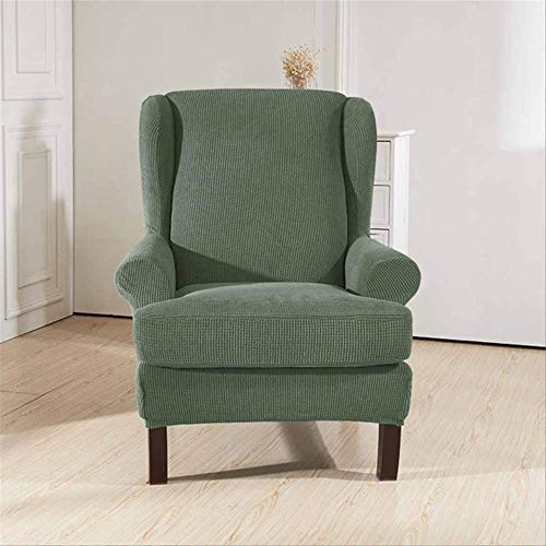 DINDAL Fodera per Sedia Sloping Arm King Back Chair Copertura Elastica Poltrona Wingback Wing Sofa Back Chair Copertura Stretch Altro Verde