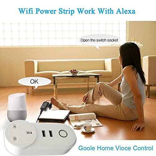 ATOMICO Voyant Lumineux Smart Plug avec minuterie USB Prise de commutateur WiFi Prise de télécommande Commande avec Amazon Alexa/Echo/Google... 27