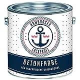 Betonfarbe SEIDENMATT Elfenbein RAL 1014 Beige Bodenfarbe Bodenbeschichtung Betonbeschichtung Fassadenfarbe // Hamburger Lack-Profi (1 L)