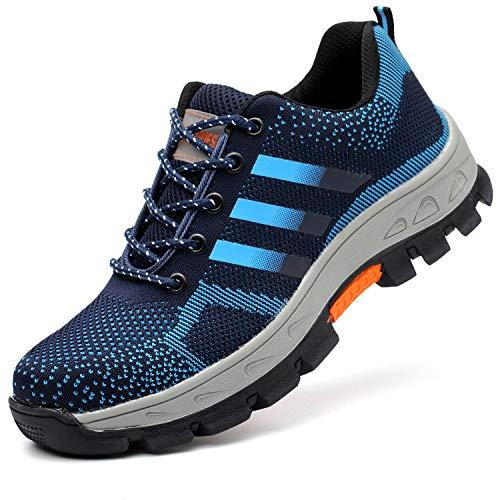 COOU Zapatos de Seguridad con Puntera de Seguridad s3 Comodos Ligeros Zapatos de Trabajo para Hombre Mujer