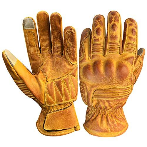 Prime Leather Guanti Touchscreen in vera pelle Nappa, per Quad (ATV), Guanti da corsa,Guanti...