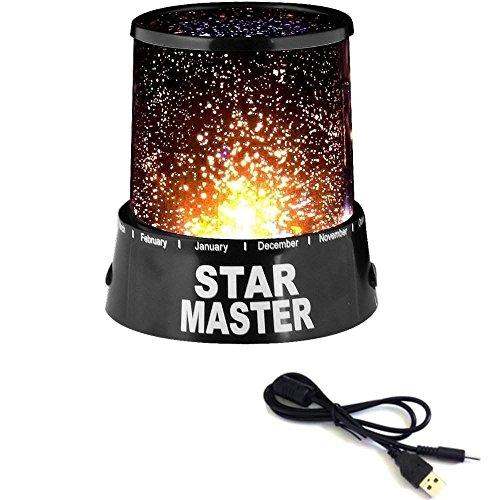 tempo di saldi Proiettore Stelle Lampada Da Tavolo Luce Notturna Per Bambini Cielo Stellato