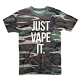 Just Vape It E-Cig Vaping Cloud Chaser Herren T-Shirt Camo Tarnung Medium