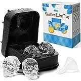 Kidac bac moule à glaçons en forme de tête de mort sans BPA en Slicone pour glaçons chocolat et bonbons–Passe au lave-vaisselle.
